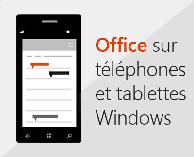 Cliquer pour configurer les applications mobiles Office sur un appareil Windows 10