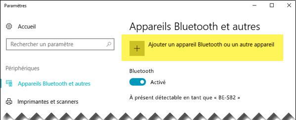 Ajouter un appareil Bluetooth