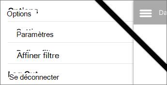 Affiner l'option de filtre