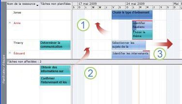 Déplacer des tâches dans le Planificateur d'équipe