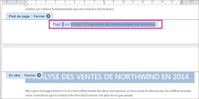 Préparez le découpage du texte du numéro de page en le sélectionnant.