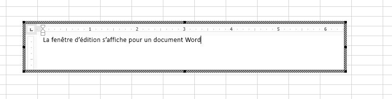 Vous pouvez modifier le document Word incorporé directement dans Excel.