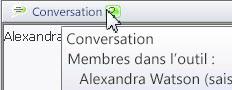 Fenêtre contextuelle de conversation