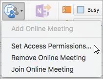 Définir les autorisations d'accès