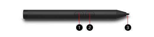 Fonctionnalités du stylet Microsoft Surface Classroom Pen