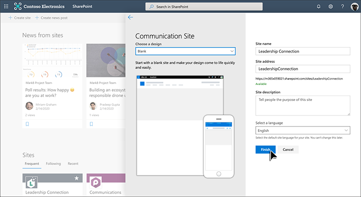 Créer un site de communication