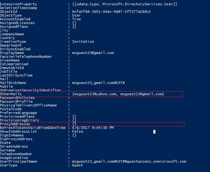 Exemple de compte d'utilisateur invité ne pas configuré correctement