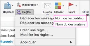 Règles: Déplacer des messages...