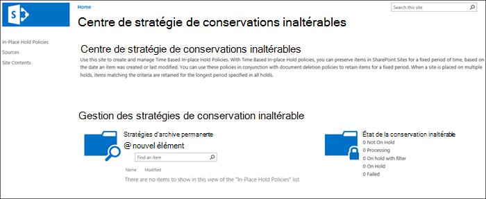 Centre de stratégies de conservation inaltérable