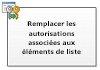 Remplacer les autorisations associées aux éléments de liste