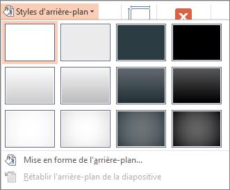 Styles d'arrière-plan PowerPoint