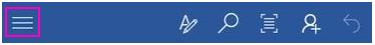Menu Fichier dans une application Office sur un téléphone Android