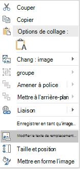 PowerPoint Win32-menu modifier le texte de remplacement pour les images