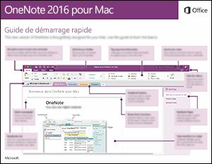 Guide de démarrage rapide de OneNote2016 pour Mac