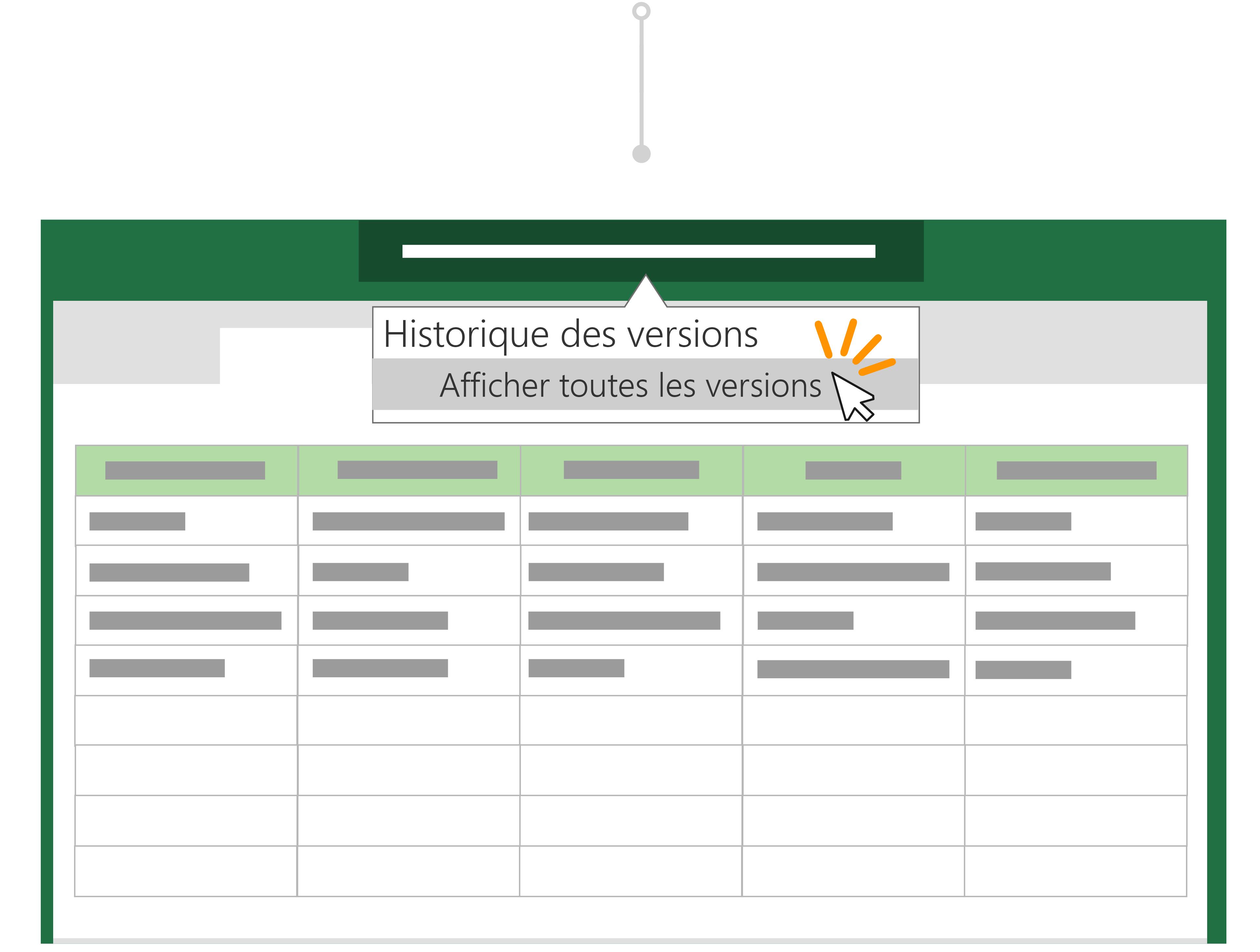 Utiliser l'historique des versions pour revenir à une version précédente d'un fichier.