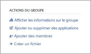 Lien Afficher les informations sur le groupe