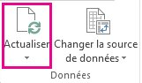 Bouton Actualiser sous l'onglet Analyse