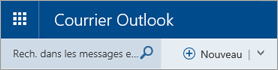 Barre de menus de courrier Outlook
