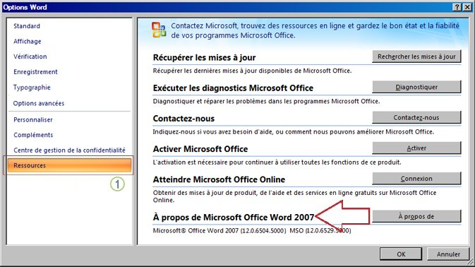 Ressources de Word 2007