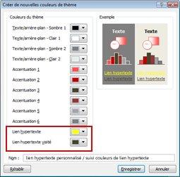 Modifier la couleur du texte d'un lien hypertexte
