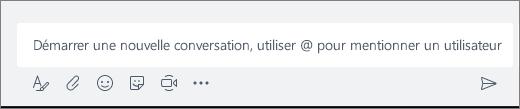 Démarrer une nouvelle conversation, utiliser @ pour mentionner un utilisateur