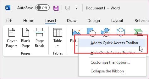 Cliquez avec le bouton droit pour ajouter la commande