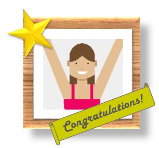 Félicitations!