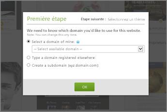 Dans GoDaddy, sélectionnez un domaine dans la liste déroulante pour commencer