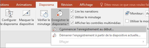 Bouton Enregistrer le diaporama dans PowerPoint