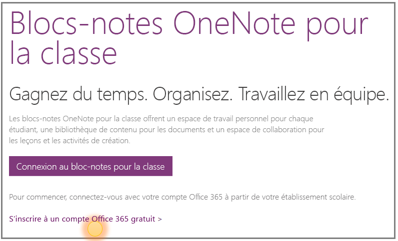 utilisez des blocs notes de cours onenote avec un compte office 365 gratuit guide pour les. Black Bedroom Furniture Sets. Home Design Ideas