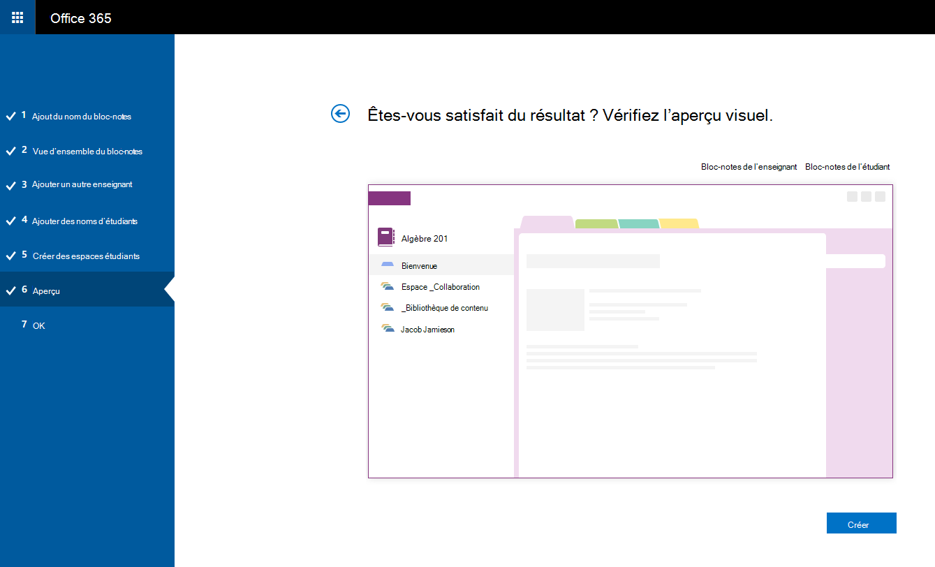 prise en main du carnet de notes onenote du personnel