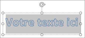 Texte d'espace réservé WordArt