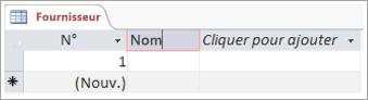 Partie d'un écran montrant un champ permettant d'ajouter un nom descriptif pour une colonne