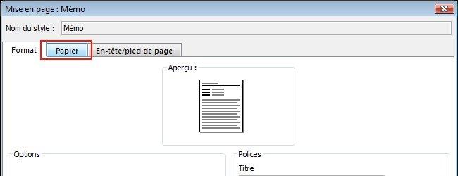 Click the Paper tab.