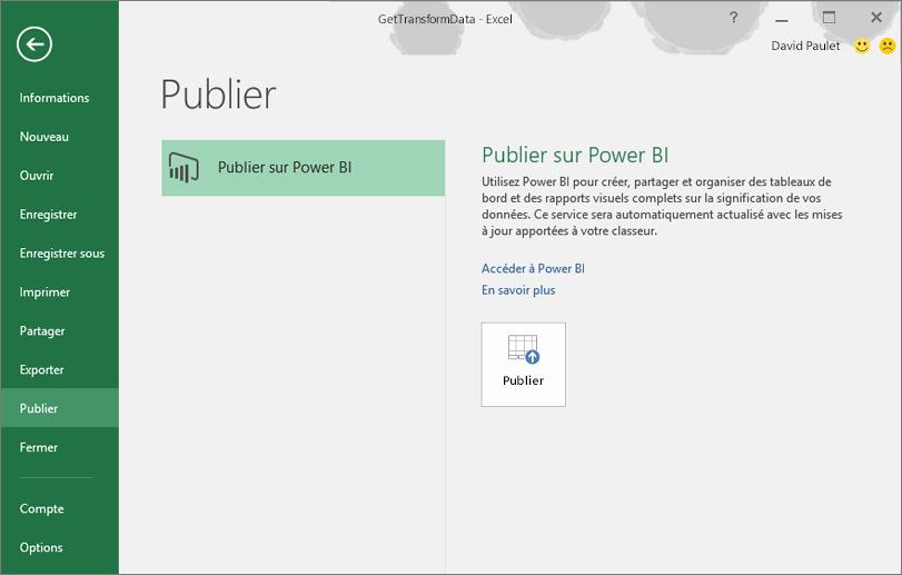 Publier sur PowerBI