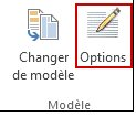Bouton Options du modèle dans Publisher 2013