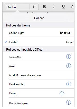 Options de police