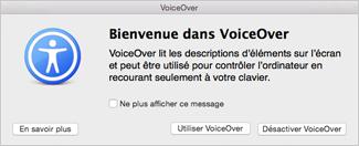 Activer ou désactiver VoiceOver