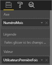 Capture d'écran illustrant les valeurs des visualisations personnalisées