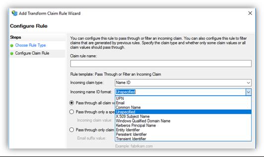 Configure claim rule