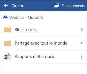 Ouvrir un document