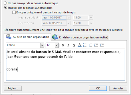 Modele message d 39 absence sur portable document online - Je suis absent du bureau ...
