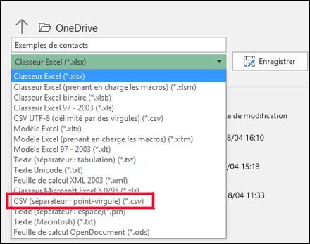 Enregistrez votre fichier Excel en tant que fichier CSV.