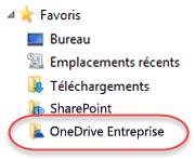Liste des favoris pour OneDrive Entreprise sous SP2016