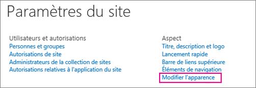 Modifier l'option d'aperçu sous Paramètres du Site.