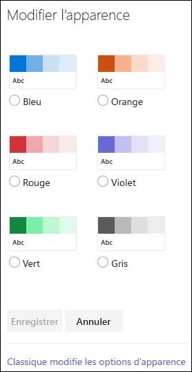Modifier l'apparence de votre site d'équipe SharePoint