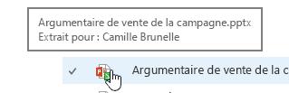Lorsque vous la souris sur l'icône de document affiche au niveau