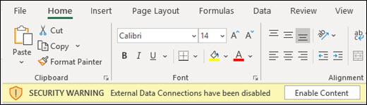 Les connexions de données externes ont été désactivées . Activez le contenu à activer.