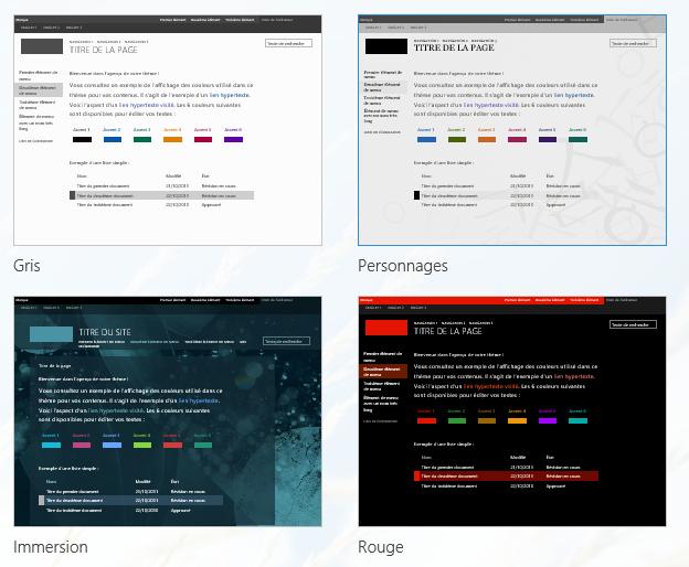Modification de l'apparence d'un site