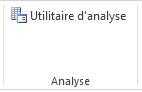 Bouton Analyse de données du groupe Analyse de données